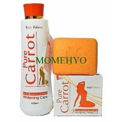 Pure Carrot Kojic Balance Lightening  Lotion And Soap